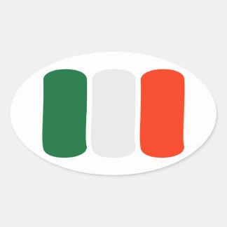 Bandera de Irlanda Colcomanias Oval Personalizadas