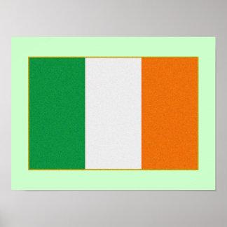 Bandera de Irlanda - República de Irlanda tricolor Póster
