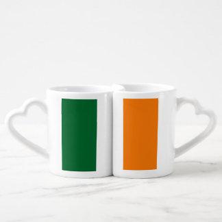 Bandera de Irlanda Taza Para Enamorados