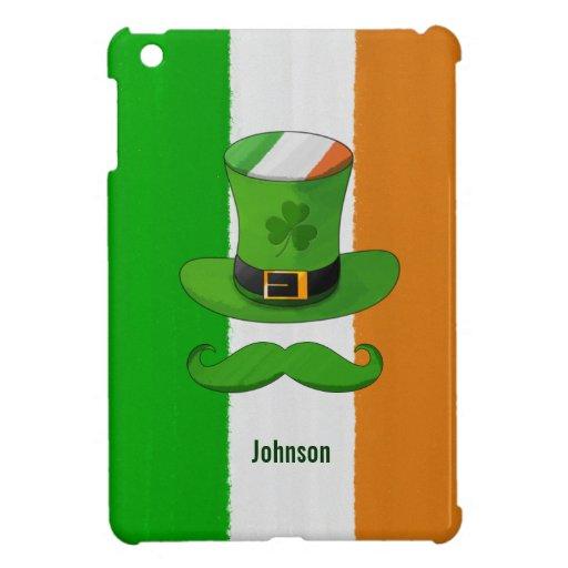 Bandera de Irlanda y bigote del gorra del