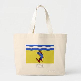 Bandera de Isère con nombre Bolsas Lienzo