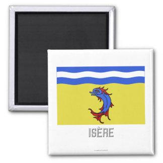 Bandera de Isère con nombre Imán