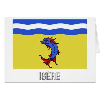 Bandera de Isère con nombre Felicitacion