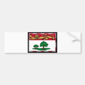 Bandera de Isla del Principe Eduardo Pegatina De Parachoque