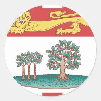 Bandera de Isla del Principe Eduardo Pegatinas Redondas