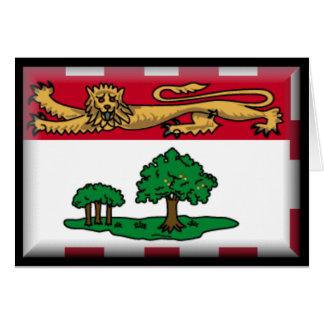 Bandera de Isla del Principe Eduardo Felicitacion