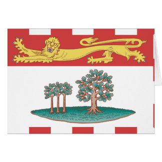 Bandera de Isla del Principe Eduardo Tarjetón