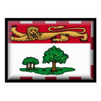 Bandera de Isla del Principe Eduardo Tarjeta Postal