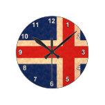 Bandera de islandés del modelo del vintage relojes