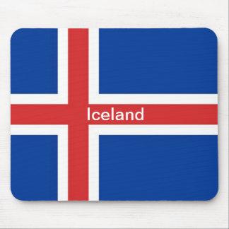 Bandera de Islandia Alfombrilla De Ratones