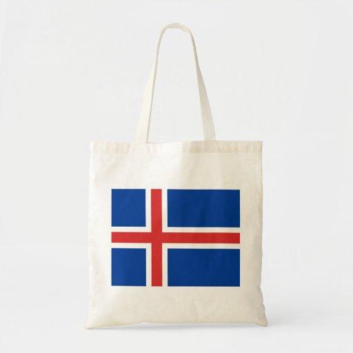 Bandera de Islandia Bolsa Tela Barata