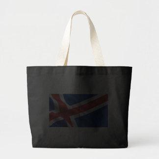 Bandera de Islandia Bolsas Lienzo