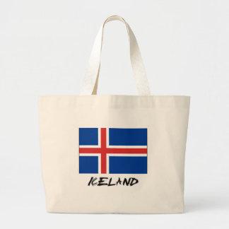Bandera de Islandia Bolsa Lienzo