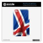 Bandera de Islandia Calcomanía Para iPod Touch 4G