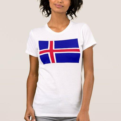 Bandera de Islandia Camisetas