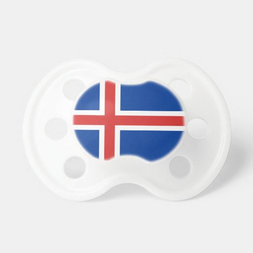 Bandera de Islandia Chupetes De Bebé