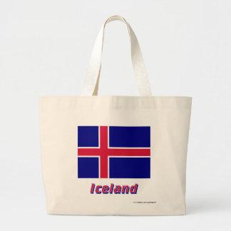 Bandera de Islandia con nombre Bolsa