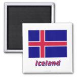 Bandera de Islandia con nombre Iman