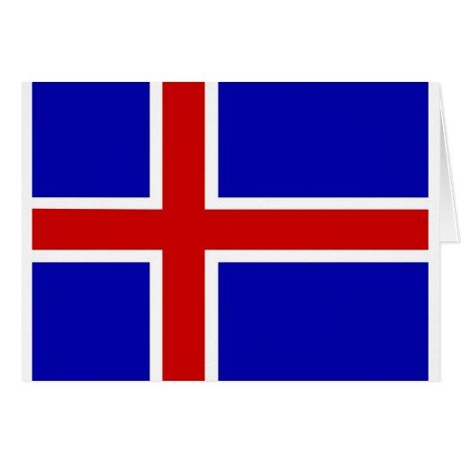 bandera de Islandia Felicitaciones