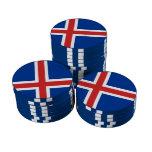 Bandera de Islandia Fichas De Póquer