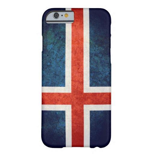 Bandera de Islandia Funda De iPhone 6 Barely There