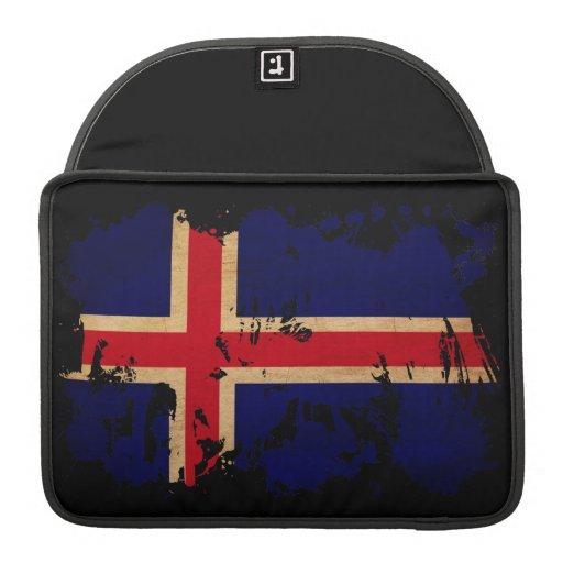 Bandera de Islandia Funda Para Macbooks