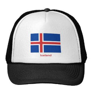 Bandera de Islandia Gorras De Camionero