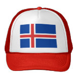 Bandera de Islandia Gorro De Camionero