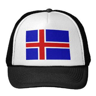 bandera de Islandia Gorros