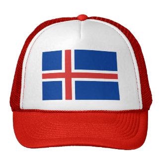Bandera de Islandia Gorros Bordados