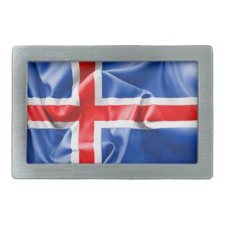 Bandera de Islandia Hebilla Cinturon Rectangular
