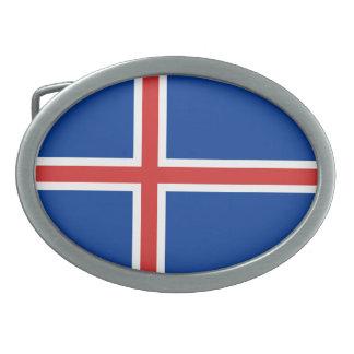 Bandera de Islandia Hebilla De Cinturón Oval
