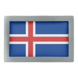 Bandera de Islandia Hebillas De Cinturon Rectangulares
