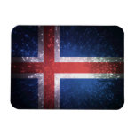 Bandera de Islandia Imán Flexible