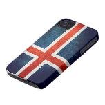 Bandera de Islandia iPhone 4 Case-Mate Carcasa