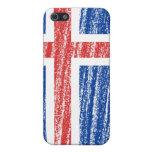 Bandera de Islandia iPhone 5 Carcasas