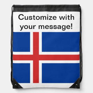 Bandera de Islandia Mochila