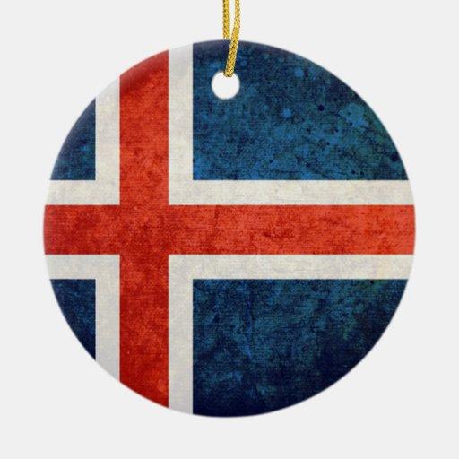 Bandera de Islandia Ornamento De Reyes Magos