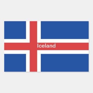 Bandera de Islandia Rectangular Altavoces