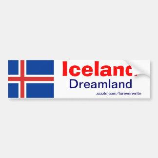 Bandera de Islandia Pegatina Para Auto
