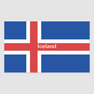 Bandera de Islandia Pegatina Rectangular