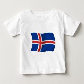 Bandera de Islandia Playera De Bebé