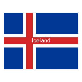 Bandera de Islandia Postales