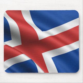 Bandera de Islandia Tapetes De Ratón