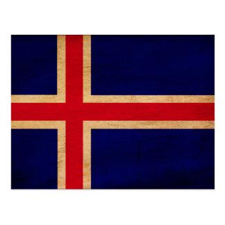 Bandera de Islandia Tarjeta Postal