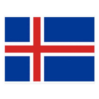 Bandera de Islandia Tarjetas Postales