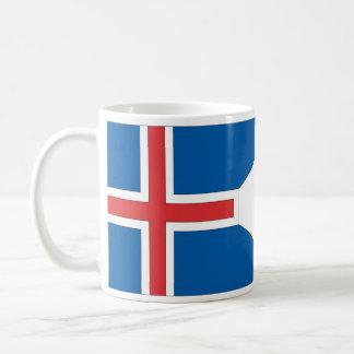 Bandera de Islandia Taza