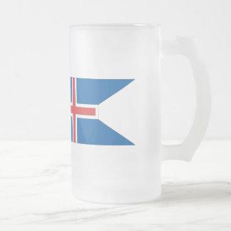 Bandera de Islandia Taza De Cristal