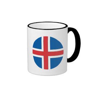 Bandera de Islandia Taza De Dos Colores