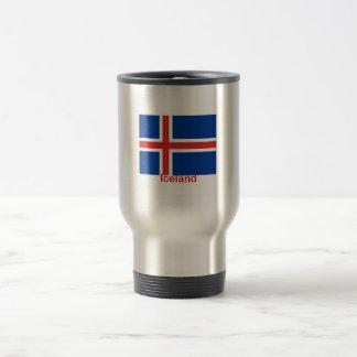 Bandera de Islandia Taza De Viaje